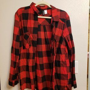 H&M Divided Buffalo Check Flannel